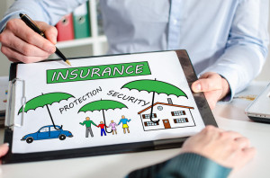 Insurance concept on a clipboard