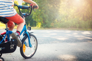 38787088 - child on a bicycle at asphalt road